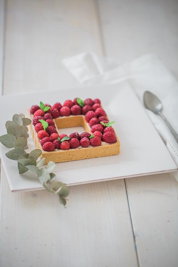 tarte aux framboises, photographe Lyon, Photographe culinaire, photographe entreprise, recette , food